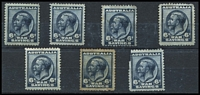 Lot 309:WW1 War Savings P11 6d blue. Mixed condition. (7)