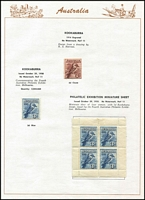 Lot 203 [2 of 3]:1913-75 Simplified Collection on Seven Seas pages incl range of KGV Heads to 4½d, 1914 commems to 1975 complete incl Kooka M/S, (ex 5/- Bridge), Robes Thick paper (3), 1949 Arms (4), 1961 Stockman (Cream), 1963-64 Navigators (6), MUH incl 1970 Cook ANPEX M/S, 1971 Christmas block of 9, 1974-79 Paintings (5), also MLH range of 'OS' opts incl 6d Airmail. Generally fine and where mounted- very lightly. (100s)