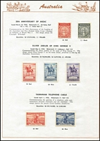 Lot 203 [1 of 3]:1913-75 Simplified Collection on Seven Seas pages incl range of KGV Heads to 4½d, 1914 commems to 1975 complete incl Kooka M/S, (ex 5/- Bridge), Robes Thick paper (3), 1949 Arms (4), 1961 Stockman (Cream), 1963-64 Navigators (6), MUH incl 1970 Cook ANPEX M/S, 1971 Christmas block of 9, 1974-79 Paintings (5), also MLH range of 'OS' opts incl 6d Airmail. Generally fine and where mounted- very lightly. (100s)