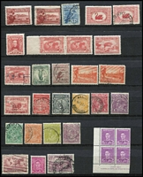 Lot 213 [2 of 2]:1913-90s Accumulation in 2 stockbooks & on leaves incl few mint KGV Heads to 5d (2), few used KGV incl 1935 ANZAC (2), 1937 NSW Sesqui 9d, range of QE also selection of British Commonwealth QE 1953-54 issues. Mixed condition. (100s)