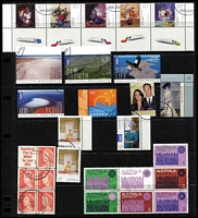 Lot 298 [2 of 4]:1971-2011 Range of CTO issues with 1971 Christmas block of 7, many later (2000s) sheetlets, M/Ss, se-tenant strips, gutter pairs, Internationals, etc. Many with WA cancels. (Few 100)