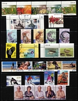 Lot 298 [1 of 4]:1971-2011 Range of CTO issues with 1971 Christmas block of 7, many later (2000s) sheetlets, M/Ss, se-tenant strips, gutter pairs, Internationals, etc. Many with WA cancels. (Few 100)