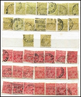 Lot 276 [2 of 2]:Stockbook with ½d to 5d range. Some duplication. Few perf 'OS', 'VG', etc. Mixed condition. (700++)