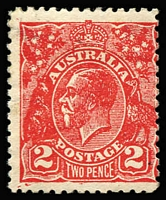 Lot 483:2d Red Postal Forgery Pef 11 on unwatermarked paper. Tiny stain in left margin. BW #103cc, Cat $900.