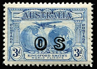 Lot 767 [1 of 3]:1931-33 Overprinted 'OS' Officials complete, very lightly mounted. Retail $800+. (15)