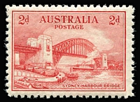 Lot 290 [2 of 4]:1932 Sydney Harbour Bridge set, very lightly mounted. BW #146-48, Cat $560+. (4)