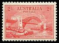 Lot 290 [3 of 4]:1932 Sydney Harbour Bridge set, very lightly mounted. BW #146-48, Cat $560+. (4)