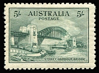 Lot 290 [1 of 4]:1932 Sydney Harbour Bridge set, very lightly mounted. BW #146-48, Cat $560+. (4)