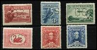 Lot 287 [2 of 2]:Officials Perf 'OS' complete, SG #O112-22 range, 1½d Sturt tiny gum blemish, very lightly mounted. (7)