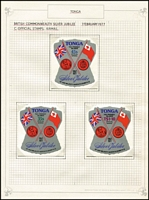 Lot 22 [3 of 7]:British Commonwealth 1977 Silver Jubilee 32 MUH sets in special album plus 26 sets on album pages with M/Ss (most M/Ss are MUH). (100s)