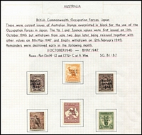 Lot 1046 [2 of 2]:1946-49 Overprints with 5/- thick paper, BW #J1-J7, Cat $235. (7)