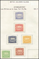 Lot 1453 [2 of 2]:1907 Large Canoes complete. SG #1-7, Cat £275. Very fresh. (7)