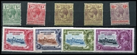 Lot 1458 [3 of 3]:1913-23 KGV Selection POSTAGE/POSTAGE set (5, incl 3d shade) POSTAGE/REVENUE ½d to £1 incl extra 1/- & 5/- shades plus 1935 Jubilee set, SG #18-38,53-6, Cat £568. (28)