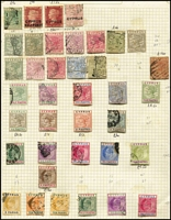 Lot 1404 [2 of 3]:1880s-1980s Collection on leaves with QV to 12pi mint, 18pi used, KEVII various to 18pi, KGV to 90pi (fiscal cancel), 1928 various British Rule to 45pi, 1934 Picts (11), KGVI 1938-51 Picts (19), 1948 Wedding (2), QE 1960-61 Opts (15), 1964 Games M/Ss (2, one CTO), range of later commem & defin sets, many MUH. Mixed condition, mostly in earlies. STC £2,600. (100s )