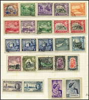 Lot 1404 [3 of 3]:1880s-1980s Collection on leaves with QV to 12pi mint, 18pi used, KEVII various to 18pi, KGV to 90pi (fiscal cancel), 1928 various British Rule to 45pi, 1934 Picts (11), KGVI 1938-51 Picts (19), 1948 Wedding (2), QE 1960-61 Opts (15), 1964 Games M/Ss (2, one CTO), range of later commem & defin sets, many MUH. Mixed condition, mostly in earlies. STC £2,600. (100s )