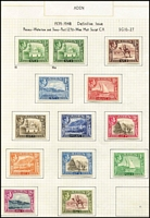 Lot 1 [2 of 3]:Aden 1937-51 KGVI issues complete incl 1948 ½a, Cat £250+ (39)