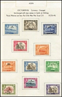 Lot 1 [3 of 3]:Aden 1937-51 KGVI issues complete incl 1948 ½a, Cat £250+ (39)