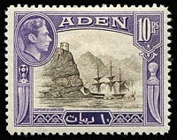 Lot 1:Aden 1937-51 KGVI issues complete incl 1948 ½a, 