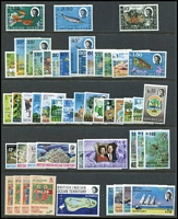 Lot 19 [2 of 2]:BIOT 1968-73 incl 1968 Opts (15), 1968-70 Marine Life (18), 1972 Coral, etc. Cat £120+. (51)