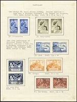 Lot 9 [2 of 3]:Basutoland 1935-59 Pictorials complete both mint (VLM) & fine used. Also 1933-52 PDues mint & used and 1956 mint, Cat £460+. (80+)