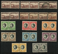 Lot 15 [2 of 5]:British Africas in boxed Lighthouse album on 28 Hagners incl Malawi 1978 Endangered Species M/S (MUH Cat £38), 1983 Fish Eagle strip, Namibia 1997 Flora & Fauna sheetlet of 18, South West Africa incl 1927 3d pair, 1927-30 Voortrekker (4 pairs), 1937 1½d Train (2 MUH pairs & 2 used pairs), Coronation (2 sets), 1973-79 Succulents (16), 1931 Officials 1d & 6d pairs, also Angola 1953 Animals (2 sets ex 12a50 Hippos). Generally fine. (100s)