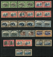 Lot 15 [1 of 5]:British Africas in boxed Lighthouse album on 28 Hagners incl Malawi 1978 Endangered Species M/S (MUH Cat £38), 1983 Fish Eagle strip, Namibia 1997 Flora & Fauna sheetlet of 18, South West Africa incl 1927 3d pair, 1927-30 Voortrekker (4 pairs), 1937 1½d Train (2 MUH pairs & 2 used pairs), Coronation (2 sets), 1973-79 Succulents (16), 1931 Officials 1d & 6d pairs, also Angola 1953 Animals (2 sets ex 12a50 Hippos). Generally fine. (100s)