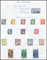 Lot 19 [2 of 3]:British Commonwealth countries in album incl Australia & States with NSW 1897 1/- Consumptive Homes, range of Revenues to 5/-, Canada 1937-38 50c, $1, many QE defins, few Officials, Ceylon, Christmas Island, Cook Islands 1963 Picts (11), Fiji, Great Britain, New Zealand 1953-57 Queens to 10/- (ex 5/-), few Revenue throughout. Generally fine. (100s)
