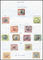 Lot 20 [2 of 3]:British Commonwealth countries in album incl India, Pakistan few 1947 Opts on India, various 'SERVICE' opts, Papua few Lakatois, 1932 Picts various to 10/- (fault), Pitcairn Island MUH 1965 ITU (2), ICY (2) & 1966 Churchill (4), South Africa, etc. Generally fine. (100s)