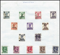 Lot 20 [3 of 3]:British Commonwealth countries in album incl India, Pakistan few 1947 Opts on India, various 'SERVICE' opts, Papua few Lakatois, 1932 Picts various to 10/- (fault), Pitcairn Island MUH 1965 ITU (2), ICY (2) & 1966 Churchill (4), South Africa, etc. Generally fine. (100s)