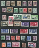 Lot 22 [2 of 5]:British Commonwealth S-Z Collection on 34 Hagners incl St Helena selection of remainder cancel issues, St Lucia, St Vincent, Seychelles, Sierra Leone, Somaliland 1921 ½a green optd 'SPECIMEN', 1949 UPU, South Africa 1961 Decimal Picts (13), few Postage Dues, Revenues, 'DOUANE' opts, Officials, South West Africa opts, 1937 Mail Train 1½d pair (MLH), Coronation (set of 8 marginal pairs), 1954 6d Ovambo woman, wmk horns to the right, Transvaal with possible forgeries/reprints incl 1885-94 several opt varieties incl opt inverted, or misplaced, range of 'V.R.I.' & 'E.R.I.' opts, Trinidad & Tobago 1953-59 P11 $4.80, etc. Generally fine. (100s)