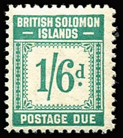 Lot 24 [1 of 2]:British Solomons 1940 Postage Due set, minor toning on several values. SG D1-D8 Cat £95 (8)