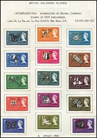 Lot 25 [3 of 5]:British Solomons 1953- 86 collection on neatly annotated leaves incl definitives, shades and wmk changes, etc, to 1986. Also incl 1982 Sandford's Eagle sheetlet, 1984 Fungi & Olympic Games Booklets, M/Ss are MUH. (100s)