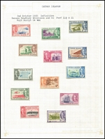 Lot 28 [3 of 4]:Cayman Islands 1902-88 Collection incl 1903 1/-, 1917-20 'WAR STAMP' range, 1921-26 Script CA to 4½d, 1932 Centenary to 1/-, 1938 Picts with perf changes, and almost complete to 1988 Olympics. Very lightly mounted. Cat £1,000+. (Few 100)