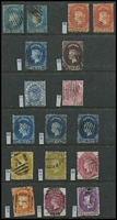 Lot 28 [1 of 5]:Ceylon 1857-1949 Collection on 35 Hagners incl 1857 1d blue (2),1861-64 P12½ 10d (2), range later Chalons, 1899-1900 various to 2r25, KEVII 1903-05 various to 75c, 1904-05 various to 1r50. 1910-11 various to 1r (2), KGV incl 1912-25 2r, 1921-32 various to 2r (4), 1935 Jubilee (4, plus extra low values), 1938-49 Picts (14, plus many extra low values). Few 'On Service' opts, also 1952 Postal Fiscal 10r (2). High catalogue value. Generally fine. (100s)