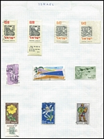 Lot 38 [3 of 3]:Foreign G-N in 2 albums incl Germany range 1920s-40s, 1949 30pf+15pf Wichern used, 1957 10pf Europa with wmk, East Germany many CTO, Greece, Guinea, Hungary, Indonesia, Israel 1962 I£1 Air used, no tab, Italy, Japan, Mexico, etc. Generally fine. (100s)