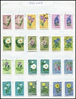 Lot 46 [2 of 3]:Foreign P-R incl Philippines, Poland 1967 Protected Plants (2 sets, one mint, one CTO), Portugal, Romania incl Postal Tax, Postage Dues, many commems, Russia. (100s)