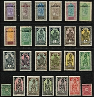 Lot 45 [2 of 6]:French Colonies Good selection on 60+ Hagners incl Algeria 1949 & 50 Stamp Days, Cameroun, Congo various 1900-04 to 5f, Dahomey, Fr. Somali Coast few 'France/Libre' opts, 1949 UPU, Fr. Equatorial Africa, Fr. Guinea, Fr. Morocco, Fr. West Africa 1949 UPU, Gabon, Ivory Coast, Madagascar, Middle Congo, Niger, Ubangi-Shari, Obock, Reunion, Senegal, Tchad, Togo incl 1942-44 1f50 (without 'RF' not placed on sale in Togo), Tunisia, Upper-Volta. Various Vichy issues throughout. Generally fine. (100s)