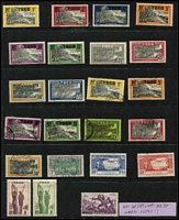 Lot 45 [3 of 6]:French Colonies Good selection on 60+ Hagners incl Algeria 1949 & 50 Stamp Days, Cameroun, Congo various 1900-04 to 5f, Dahomey, Fr. Somali Coast few 'France/Libre' opts, 1949 UPU, Fr. Equatorial Africa, Fr. Guinea, Fr. Morocco, Fr. West Africa 1949 UPU, Gabon, Ivory Coast, Madagascar, Middle Congo, Niger, Ubangi-Shari, Obock, Reunion, Senegal, Tchad, Togo incl 1942-44 1f50 (without 'RF' not placed on sale in Togo), Tunisia, Upper-Volta. Various Vichy issues throughout. Generally fine. (100s)