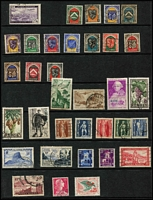 Lot 45 [1 of 6]:French Colonies Good selection on 60+ Hagners incl Algeria 1949 & 50 Stamp Days, Cameroun, Congo various 1900-04 to 5f, Dahomey, Fr. Somali Coast few 'France/Libre' opts, 1949 UPU, Fr. Equatorial Africa, Fr. Guinea, Fr. Morocco, Fr. West Africa 1949 UPU, Gabon, Ivory Coast, Madagascar, Middle Congo, Niger, Ubangi-Shari, Obock, Reunion, Senegal, Tchad, Togo incl 1942-44 1f50 (without 'RF' not placed on sale in Togo), Tunisia, Upper-Volta. Various Vichy issues throughout. Generally fine. (100s)