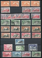 Lot 41 [3 of 3]:Gibraltar 1881-1950 Collection incl few QV incl GB 2½d blue Pl. 23, 1886 Opt on 2½d (possible blue-black opt, thinned), few later to 1/-, range of KGV to 2/-, KGVI Pictorial extensive range with various perfs to 2/- (5), 5/- (3) & 10/-, Generally fine. (Approx 180)
