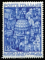Lot 45 [1 of 3]:Italy 1949-52 commemoratives selection incl 1949 2nd World Health Conference, 1950 Holy Year (2), D'Arezzo, 1950 European Tobacco Conference, 1951 Tuscan Stamp Centenary (2), Triennial Art Exhib 55l, Sardinian Stamp Centenary (3), also 1950 Provincial Occupations (ex 35l), 1950 International Radio Conference. Cat Approx £1,400. (56)