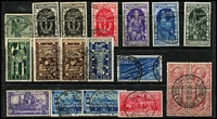 Lot 47 [2 of 3]:Italy Pre-1945 commem selection on stockcards incl 1934 Fiume Air Express 2.25l+1.25l, various other issues, also few later incl 1951 1st Tuscan Stamp (2). (140+)