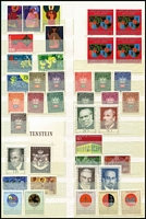 Lot 61 [1 of 4]:Liechtenstein 1920-1990s in stockbook incl few earlies (some hinged), everything else is MUH incl 1959-64 Picts (14), 1967-71 Saints (13), 1968-69 Officials (12), 1972-73 Landscapes (15), 1974 Royals 10f, 1978 Buildings (12), numerous commem sets, M/Ss, etc. High cat value. (Few 100)