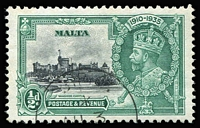 Lot 59 [1 of 4]:Malta 1857-1958 Collection incl few GB used in Malta incl 1857 4d rose, 1867-70 6d pl 8, KEVII range to 1/-, KGV to 2/-, 1930 2/-, 3/-, 1935 Jubilee ½d with Extra flagstaff, KGVI duplicated array incl 1948-53 Self-Government Opts (21), plus additional 2/6d (3), 5/- (6) & 10/-. Also small selection of Aden KGV & KGVI plus Seiyun 1949 Wedding (2). Generally fine. (350+)