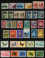 Lot 69 [3 of 3]:Netherlands New Guinea 1950-62 Issues almost complete with 1950-52 Defins (21, no gum, & 1954 30c to 85c used, 1g mint), eveything else appears to be MUH. Also 1962-63 UNTEA opts (19) MLH. Cat approx £390+. (110)