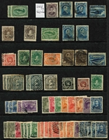 Lot 34 [2 of 3]:Newfoundland 1860s-1940s Collection incl 1897-1918 Royals to 5c, 1911-16 Coronation 12c, 1919 Caribou (12), 1937 Coronation Pictorials (2 sets of 11), etc, some duplication.