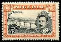 Lot 67 [1 of 3]:Nigeria 1937-52 Collection complete with Definitive perf changes, shades, 1948 Wedding, 1949 UPU. Cat £350+. (42)