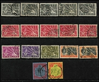 Lot 74 [3 of 5]:Nyasaland 1891-1963 Collection on 16 Hagners incl few BCA opts to 6d, various 1895 to 6d, 1896 6d (3), 1907 Wmk Mult Crown CA 6d (MLH & used), 1921-23 2/-, KGVI 1938-44 various to 5/-, 1945 Picts to 10/-, 1949 UPU (3 sets used), 1951 Jubilee (MUH), also 1950 Commercial Airmail cover to London with KGVI 1/- Map tied by 'BLANTYRE' cds, 1953 Coronation FDC (2 different) to Australia both with 'Coronation Day' handstamp. (300++ & 3 covers)
