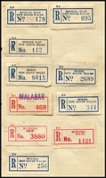 Lot 79 [3 of 4]:Registration Labels World selection loose and on small album pages incl Australia with NSW & FCT, Qld, S. Aust, Tas, Vic, WA, various provisionals throughout, numerous overseas incl Hong Kong, Switzerland, etc. Very mixed condition. (100s)