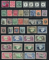 Lot 77 [3 of 5]:Rhodesias Collection incl BSA incl 1896-97 10/-, 1898-1908 £1 (both with Fiscal cancels), 1909 'Rhodesia' Opts incl 2/6d, 10/-, 1910-13 Double Heads ½d to 2½d, Admirals range to 1/-, 1966 Picts (14), Northern Rhodesia 1935 Jubilee (mint), 1929-52 Postage Dues (4), Rhodesia & Nyasaland 1954 Defins (16), 1959-62 Pictorials (15), Southern Rhodesia Admirals range incl 2/6d (fiscal), 1937 KGVI Defins (13), etc. Few low value Revenue stamps. Generally fine. (Approx 300)